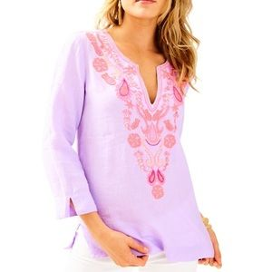 Lilly Pulitzer Lilac Verben Amelia Island Tunic M